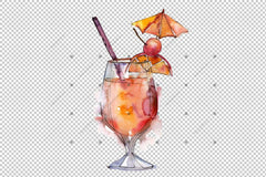 Cocktail Mix Png Set acuarelă digitală