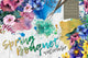 Spring bouquet PNG watercolor flower set