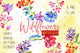 Wildflowers watercolor PNG set