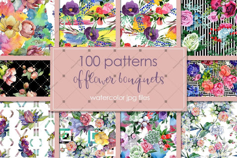 Watercolor Flower royalty free clipart images