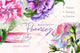 Elegant peony PNG watercolor flower set