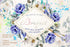 Bouquet with blue poppies and daisies Watercolor png