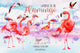 Watercolor pink flamingo PNG set