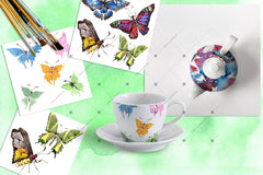 Exotic Butterflies Png Watercolor Set Digital