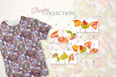Autumn Leaves Of Poplar Png Watercolor Set Digital