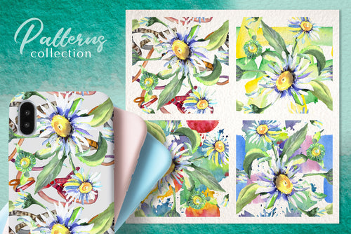 Daisy flower flower green watercolor png