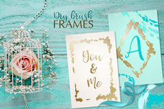 Dry brush frames vector collection vector set