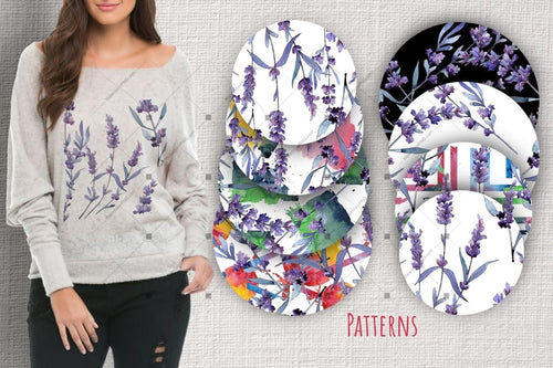 Set Violet Lavender Indah Png Cat Air Digital