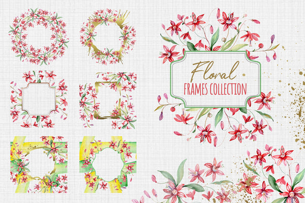 Bouquets may sun red Watercolor png