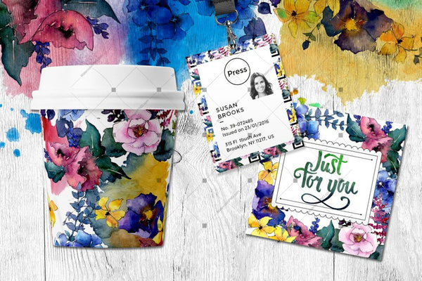 Spring Bouquet Png Watercolor Flower Set Digital