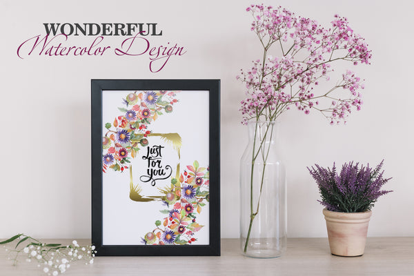 Acquerello Bouquet con aster e fiori selvatici PNG