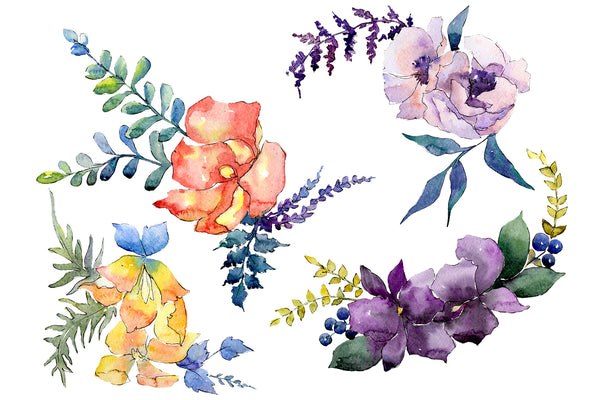 Bouquet Chainmail of love watercolor png