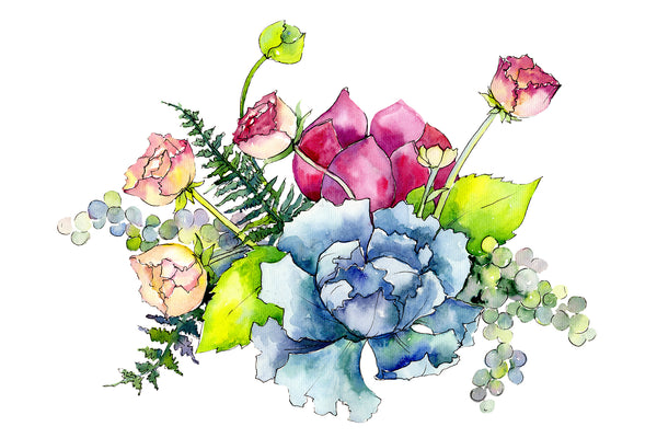 Bouquet Summer miracle watercolor png