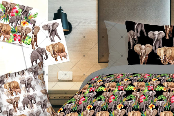 Elephants Life Animal Png Watercolor Set Digital