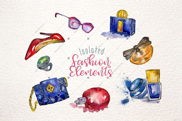 Fashion Glamour Illustration Png Watercolor Set Digital