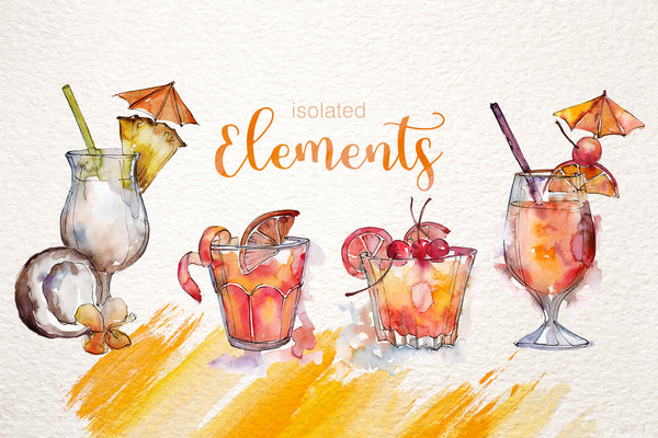 Cocktail Watercolor png