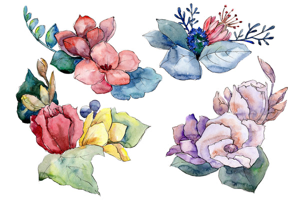 Bouquet Paint summer watercolor png