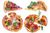 Appetizing pizza watercolor png