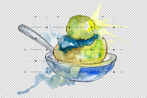 Dessert Appetizing Watercolor Png Flower