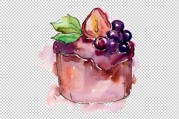 Dessert Brown Watercolor png Flower