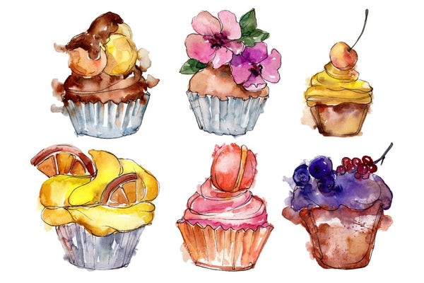 Dessert Friday Watercolor png