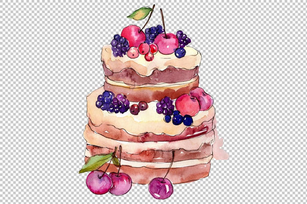 Dessert michel Watercolor png Flower