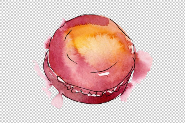 Dessert Provence Watercolor png Flower