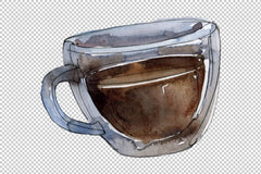 Drinks Coffee Watercolor png Flower