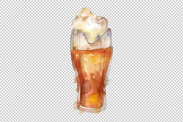 Drinks for men Watercolor png Flower