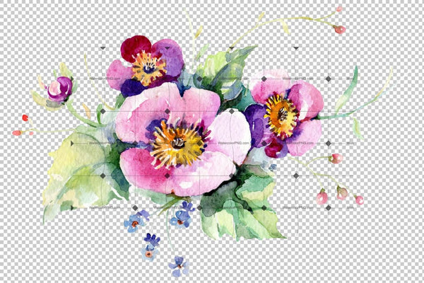 Exotic bouquet Watercolor png Flower