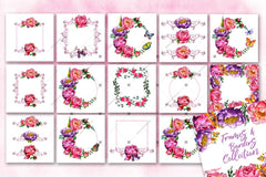 Exon Peonies Png Watercolour Flower Set Digiteach