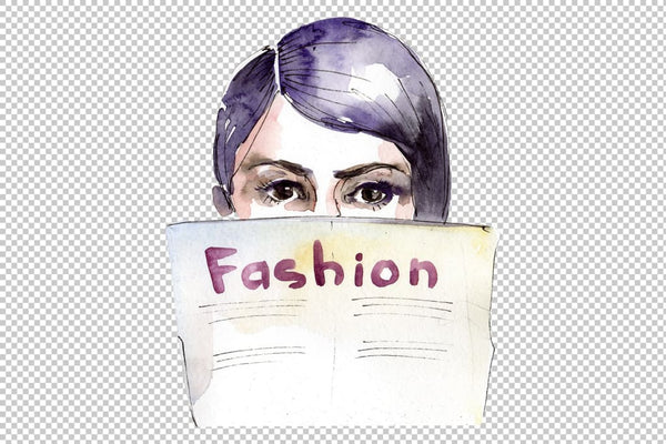 Fashion and style watercolor png Flower
