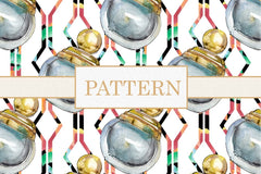 Fashion patterns Watercolor png Digital