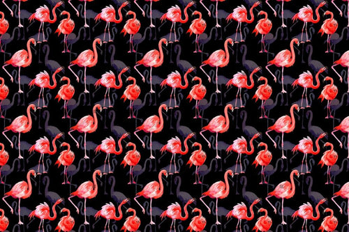 Flamingo Fashion Watercolor Png Set Digital