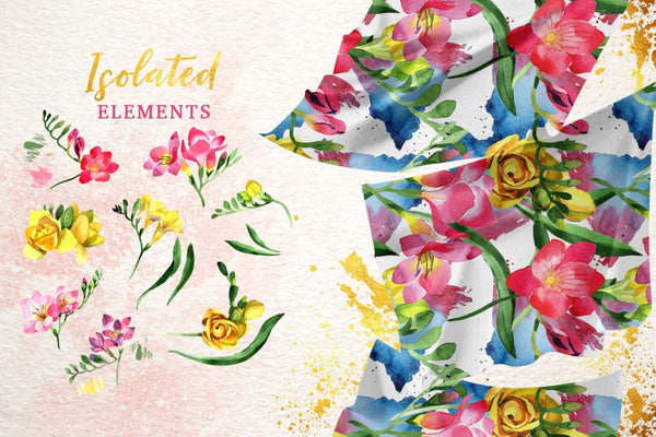Floral Design collection watercolor png Flower