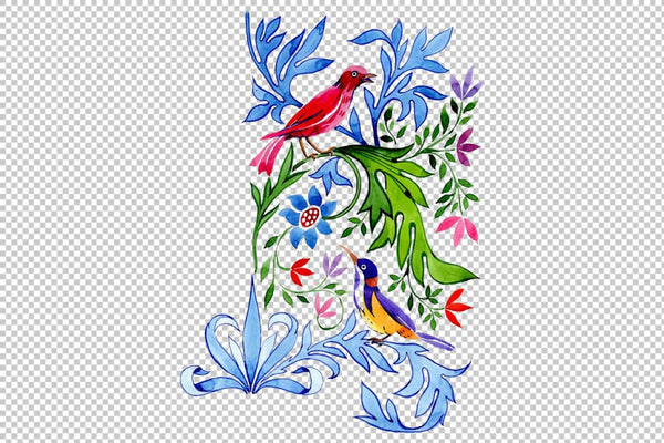 Floral pattern Tenderness watercolor png Flower