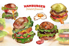 Hamburger Watercolour png Digital