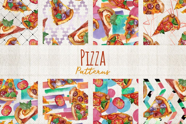 Hawaiian Pizza Watercolor png Digital