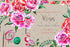 Holiday Pink Roses Png Watercolor Set Digital