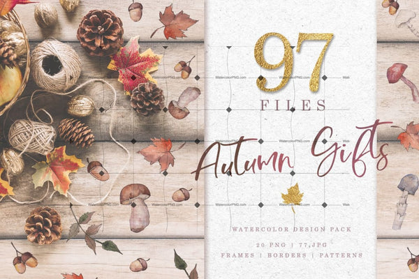 Huge Set Of 97 Autumn Gifts Digital