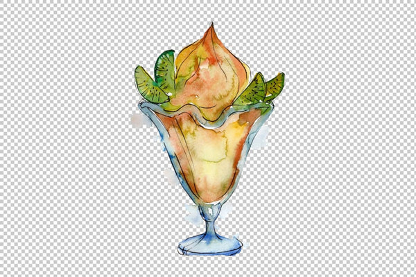 Ice cream Malvina Watercolor png Flower