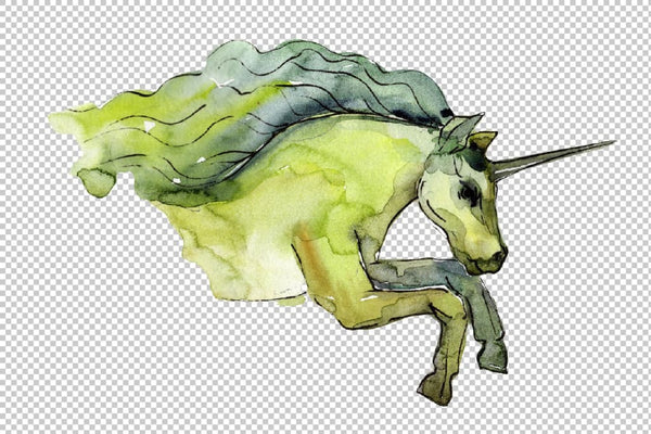 Image unicorn watercolor png Flower