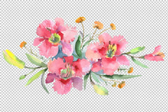 Imperial bouquet Watercolor png Flower
