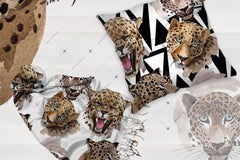 Leopard Png Watercolor Set Թվային