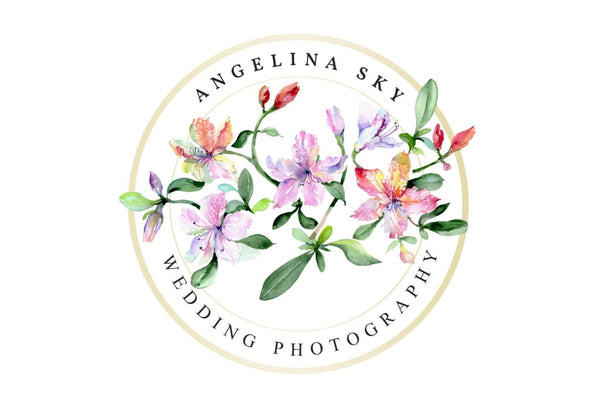 LOGO with alstroemerias Watercolor png Flower