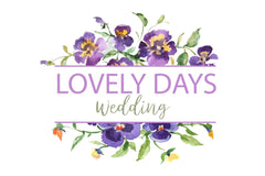 LOGO with violas Watercolor png Flower