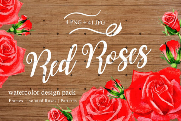 Lovely Clipart Of 45 Png Red Roses Digital