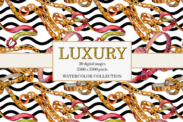 Luxury watercolor collection Digital