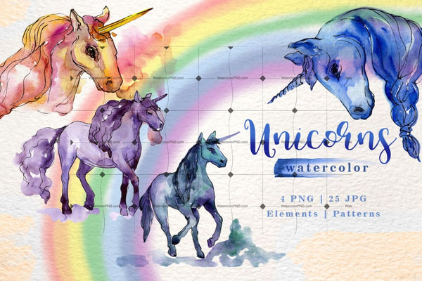 Magnificent Set Of 29 Marvelous Unicorns Digital