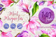 Meet magnolia PNG watercolor flower set